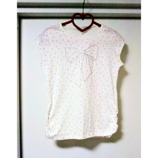 アーヴェヴェ(a.v.v)の新品 タグ付 a.v.v フレンチスリーブ Tシャツ 150(Tシャツ/カットソー)