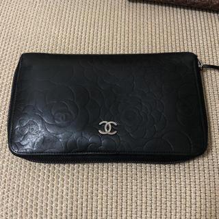シャネル(CHANEL)のシャネル 長財布 カメリア 黒(財布)