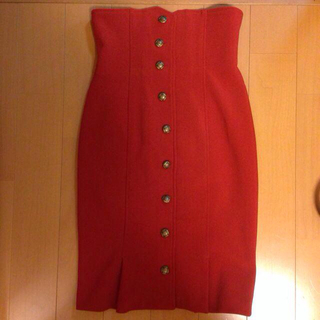 リリーブラウン(Lily Brown)のハイウエストペンシルスカート(ひざ丈スカート)