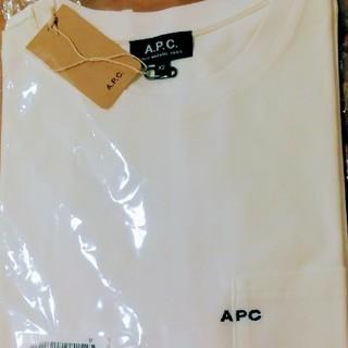 アーペーセー(A.P.C)の新品未使用 A.P.C. ロゴ刺繍ポケットTシャツ XS (Tシャツ/カットソー(半袖/袖なし))