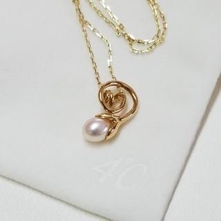 ヨンドシー(4℃)の地金たっぷり♥4℃ 淡水パール YGK18 ネックレス(ネックレス)