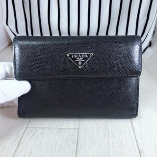 プラダ(PRADA)の【美品】PRADA×プラダ 2つ折り長財布(財布)