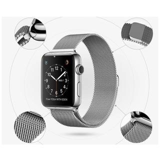Apple Watch バンド ステンレス(42mm) (シルバー) (金属ベルト)