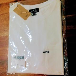 アーペーセー(A.P.C)の新品未使用 A.P.C. 刺繍ロゴポケットTシャツ XS (Tシャツ/カットソー(半袖/袖なし))