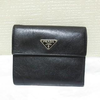 プラダ(PRADA)のプラダPRADA定番サフィアーノ三つ折りレザーウォレットユニセックス上質レザー(折り財布)