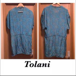 トラニ(Tolani)の美品☆Tolani シルクワンピース(ひざ丈ワンピース)