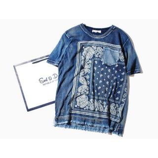 ロンハーマン(Ron Herman)のインディゴペイズリーカットソー インディゴM(Tシャツ/カットソー(半袖/袖なし))