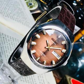 セイコー(SEIKO)の70's Vint. セイコー ロードマチック OH済 ブラウン 卵形ケース(腕時計(アナログ))