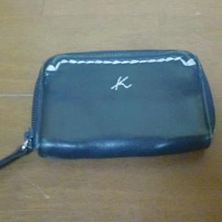 キタムラ(Kitamura)のキタムラ 小銭入れ 革製 ネイビー(コインケース/小銭入れ)