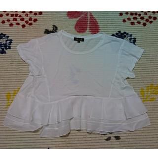 ドゥロワー(Drawer)のドゥロワー フリル カットソー ティアード(Tシャツ(半袖/袖なし))
