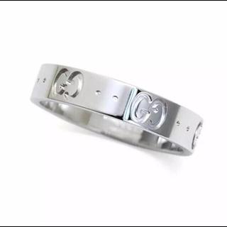 グッチ(Gucci)のグッチ アイコンリング 8号 ホワイトゴールド リング WG 9 結婚指輪 指輪(リング(指輪))