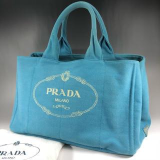 プラダ(PRADA)の正規品 PRADA プラダ ターコイズ カナパ トートバッグ EX5-35(トートバッグ)