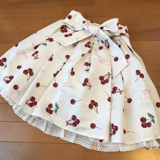 アンクルージュ(Ank Rouge)のアンクルージュ美品チェリースカート(ひざ丈スカート)
