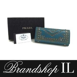 プラダ(PRADA)のプラダ 長財布 財布 サイフ スタッズ ビジュー クリスタル ラインストーン(財布)