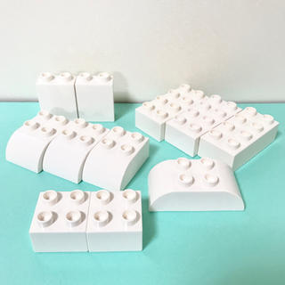 Lego - ブロック 白 ホワイト デュプロ レゴ