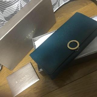 ブルガリ(BVLGARI)の【鑑定済】BVLGARI ロゴクリップ 長財布 バイカラー 美品(長財布)