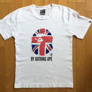 アベイシングエイプ(A BATHING APE)のA BATHING APE ア ベイシング エイプ ユニオンジャック柄 tシャツ(Tシャツ/カットソー(半袖/袖なし))