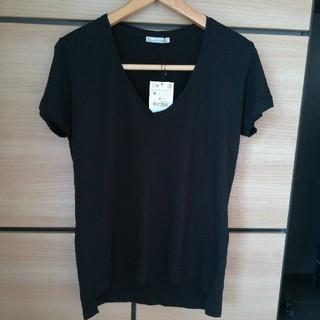 ザラ(ZARA)のみー様専用ZARA VネックTシャツMサイズ 新品(Tシャツ(半袖/袖なし))