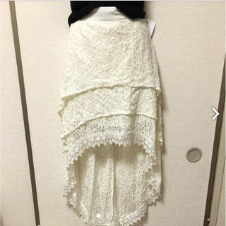 グローゼ(GROWZE)の【GROWZE】マーメイド 刺繍スカート(ひざ丈スカート)