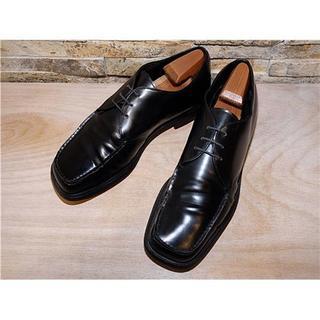 プラダ(PRADA)の高級品 美品 PRADA (プラダ) ドレスシューズ 黒 28,5cm (ドレス/ビジネス)