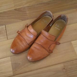 サヤ(SAYA)のまらたん418さま専用 SAYA  ローヒール 24.5センチ(ローファー/革靴)