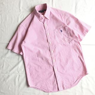 ラルフローレン(Ralph Lauren)の80s 90s ラルフローレン 半袖 ストライプ シアサッカー BDシャツ(シャツ)