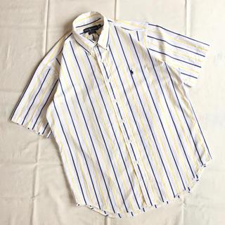 ラルフローレン(Ralph Lauren)の80s 90s ラルフローレン 半袖 ストライプ BDシャツ ワンポイントロゴ(シャツ)