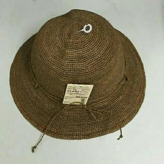 ムジルシリョウヒン(MUJI (無印良品))の新品 無印良品 たためるキャペリン・ブラウン(麦わら帽子/ストローハット)