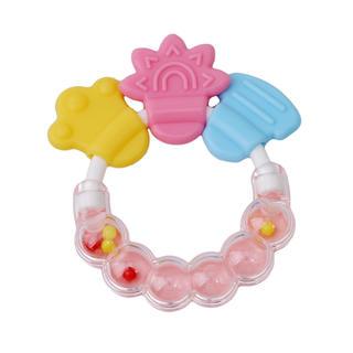 赤ちゃん おもちゃ ガラガラ 歯固め 新品(がらがら/ラトル)