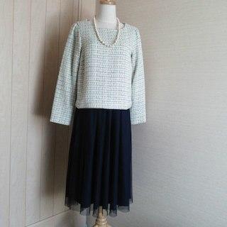 クチュールブローチ(Couture Brooch)の☆進級式、入園に✨新品 クチュールブローチ ツイードプルオーバー(その他)