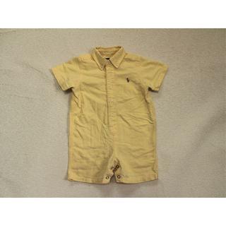 ラルフローレン(Ralph Lauren)のB007★ラルフローレン60半袖 ポロシャツ風ロンパース男の子ベビー服(ロンパース)