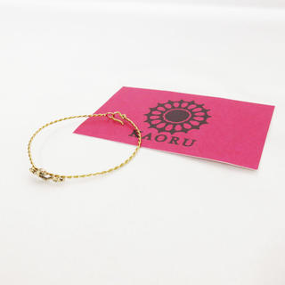 カオル(KAORU)の美品 KAORU ゴールド ツイスト ブレスレット K18 アトリエ カオル(ブレスレット/バングル)