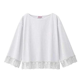 ジーユー(GU)の新品 GU セーラームーンコラボ レースコンビT(7分袖)ユニクロ(Tシャツ(長袖/七分))