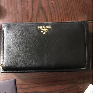 プラダ(PRADA)のプラダ  サフィアーノ  ラウンドファスナー財布(長財布)