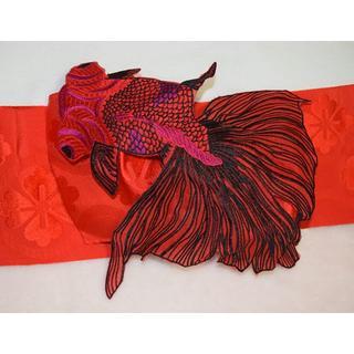 金魚の作り帯①(浴衣帯)