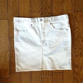 ジーユー(GU)のGUホワイトミニスカート Sサイズ(ミニスカート)