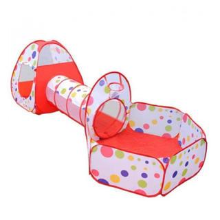 送料無料☆子供用テント セット 折り畳み式 トンネル 収納バック付き