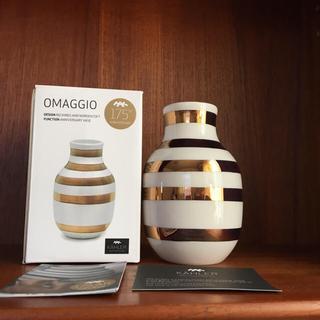 ケーラー(Kahler)のケーラー KAHLER オマジオ ベース 小 ゴールド 新品(花瓶)