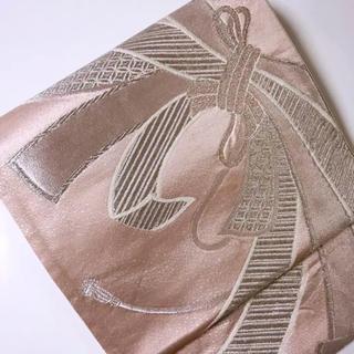 ピンク地に熨斗目模様袋帯(帯)