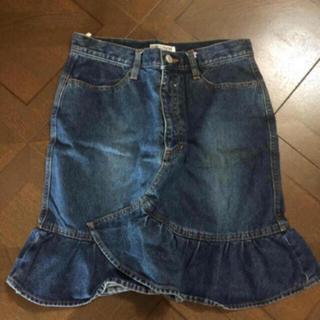 ザラ(ZARA)の本日限定お値下♡♡ デニム フリル デザイン スカート 美品♡♡(ミニスカート)