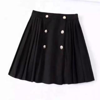 ザラ(ZARA)のプリーツスカート L(ミニスカート)