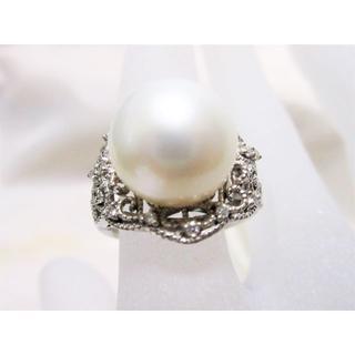 真珠 大粒 パール 12mm 極上 指輪 リング K18 約11.5号(リング(指輪))