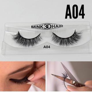 a04送料無料 3D ミンク つけまつげ つけまつ毛 mink3dhair (つけまつげ)