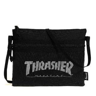 スラッシャー(THRASHER)の【THRASHER】サコッシュショルダー[BK/WH(メッシュ)](ショルダーバッグ)