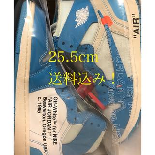 ナイキ(NIKE)のnike off white AJ1 25.5 (スニーカー)