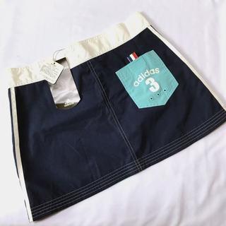 アディダス(adidas)の【新品】adidas ゴルフ スカート 水色 紺 Lサイズ(ウエア)