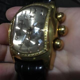 アヴァランチ(AVALANCHE)のICE LINK PHAT Ice ローズゴールド ダイヤモンド ジャンク(腕時計(アナログ))