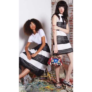 アリスアンドオリビア(Alice+Olivia)の美品 alice+olivia レーススカート(ひざ丈スカート)