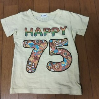 ターカーミニ(t/mini)のt/mini 半袖Tシャツ 100 黄色(Tシャツ/カットソー)