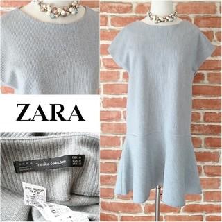 ザラ(ZARA)のZARA trafaluc collection*ザラ【美品】裾フレアワンピース(ひざ丈ワンピース)